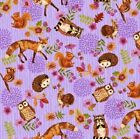 Studio E Enchanted Forest by Jennifer Brinley 3832 50 Lilac Toss Cotton Fab BTY