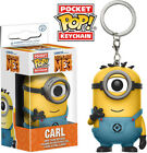 Despicable Me 3 - Carl (In Minion Jumpsuit) Funko Pop! Keychain: Toy