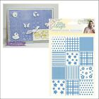 Patchwork Quilt embossing folder Crafters Companion embossing folders 5 X 7
