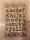 Tim Holtz Idea ology LOWER CASE ALPHA Cling Foam Stamps TH93579 NEW
