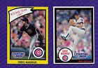 1989 1990 STARTING LINEUP CARDS GREG MADDUX CHICAGO CUBS