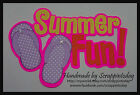 Summer Fun Title Flipflops purple Premade Paper piecing set  by scrappintoday