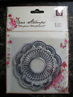 NEW Prima Flower Clear Paintable Doily Acrylic Rubber Stamp 541835 Stamping Card