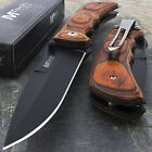 775 MTECH USA RED WOOD SPRING ASSISTED FOLDING POCKET KNIFE Blade Open Assist