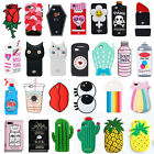 For Apple iPhone 5 5S SE 6s 7 7 Plus 3D Cute Cartoon Silicone Soft Case Cover