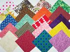 100 cotton fabric quilt block 5 inch Colorful Mix square 20 different 5 of each