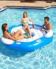 3 PERSON INFLATABLE POOL ISLAND BEACH PARTY WATER FUN  RELAXING ISLAND FLOAT