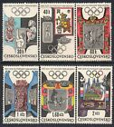 1781 CZECHOSLOVAKIA 1968 Olympic Games Mexico City MNH Set