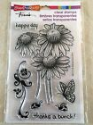 Stampendous Clear Acrylic Stamp Set Daisy Thanks Flower SSC1112 NEW