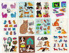 Vintage Sandylion Cats and Dogs Stickers Glitter Prism Kromekote You Choose