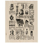 Tim Holtz Mounted Red Rubber Stamp 5X65 Patriotic Catalog