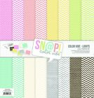 SIMPLE STORIES 7060 Lights Color Vibe Paper Pack 8 Double Sided 12x12 Sheets