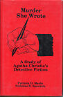 Murder She Wrote A Study of Agatha Christies Detective Fiction 1st Ed DJ 1982