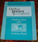 Abeka Old World History  Geography 5 Student Quiz and Activity Book