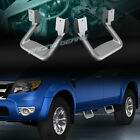 2 X SILVER TEXTURE COATED DIE CAST ALUMINUM TRUCK SUV PICKUP NERF SIDE STEP BAR