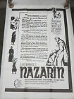 Luis Bunuel NAZARIN Art House Theatrical One Sheet 27x41 FINE Condition