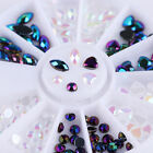 Chameleon Rhinestones 3D Nai Art Decoration in Wheel Heart Marquise Stickers