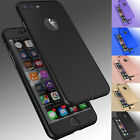 Case Ultra Thin Slim Hard Cover+ Tempered Glass For Apple iPhone 8 6S 7 7 Plus