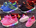 LED Kid Shoes Boys Girl Light Up Sneakers Baby Toddler Luminous Casual Trainers
