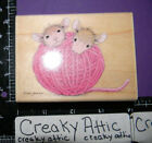 HOUSE MOUSE CLOSE KNIT FRIENDSHIP RUBBER STAMPS STAMPABILITES HMUR1055 BALL YARN