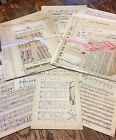 Vintage Paper Music assortment early Altered Art Craft18 pages