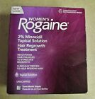 Women's Rogaine 2% Minoxidil Topical Solution 3 Month Supply Hair Regrowth 60mL