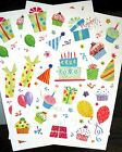 New Vicky Howard Colorful Birthday Party Hats100 Stickers Acid Free Scrapbooking