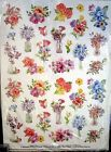 New 72 Watercolor Floral Bouquet Stickers Acid Free Scrapbooking Cards Gifts