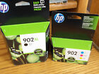 HP 902XL Black and 902 Color Cartridges Brand New Free Shipping