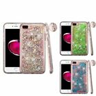 For Apple iPhone 7 Plus 8 Plus Quicksand Hard Hybrid Bling Protector Case Cover