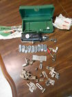Singer Buttonholer w Templates in case with extra attachments vintage