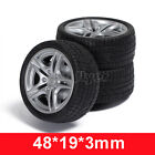 2pcs 48*19*3mm Rubber RC Car Tire Toy Wheels Model Robotic DIY Trucks 1:10 Scale