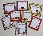 Premade Disney Scrapbook Page Journaling Mat Set Mickey Mouse Minnie Pluto