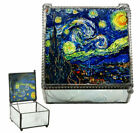 Vincent Van Gogh Starry Night Stained Glass Decorative Box 4X4 Museum Art