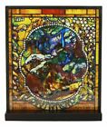 Louis Comfort Tiffany Four Seasons Collection Winter Stained Glass Art With Base