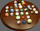 Vintage Lot Of 33 Marbles Great Assortment Akro, Vitro, Master, Alley,