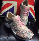 Womens Running Casual Lace Up Flowers Mesh Athletic Sneakers Shoes Fashion A51