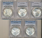 1921 1922 1923 1924 1925 PCGS MS63 Morgan PEACE Silver Dollars Nice Choice BU