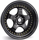 18 ESR SR06 Gloss Black Wheels 18x95 Inch 5x1143 +22 Rims Set of 4