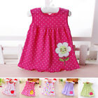 Newborn Baby Girls Cute Cartoon Floral Print Casual Dress Kids Summer Skirt 0 1Y