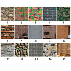 1Roll 3D Flexible Wall Stickers Brick Stone Wall Paper Self adhesive Home Decor