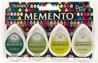 Tsukineko MEMENTO Dew Drop Inkpad of All Kinds 4 Pack Greenhouse MD100002 NEW