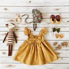 Toddler Kid Baby Girl Clothes Princess Party Prom Bow Tutu Beach Summer Dress