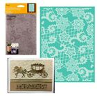 Cuttlebug embossing folders Heathers Lace 5 x 7 folder wedding all occasion