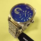 NWT Diesel DZ7341 Mini Daddy Gold Tone Dual Time Zone Chronograph Watch 46mm