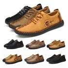 New Mens British Style Handmade Classic Leather Oxford Flats Suede Casual Shoes