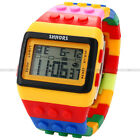 SHHORS Candy Rubber LED Digital Stopwatch Waterproof Mens Lady Child Sport Watch