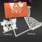Cat Lover Marriage Lace Metal Cutting Dies Stencil Scrapbooking Card Embossing
