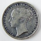 1869 Great Britain Victoria Shilling Silver Fine Details Cleaned Scratches A2671