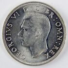 1946 Great Britain George VI Silver 1/2 Half Crown AU About Uncirculated A2649